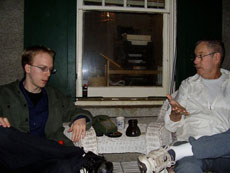 Chris and Alan talking at Hindsight circa 2006